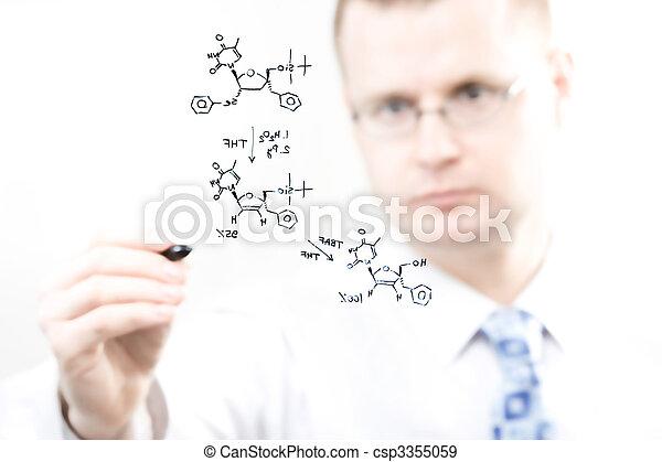 jeune, chimiste - csp3355059