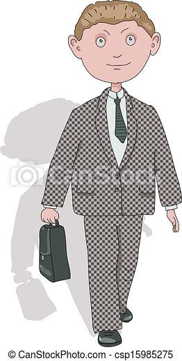 jeune, homme affaires - csp15985275