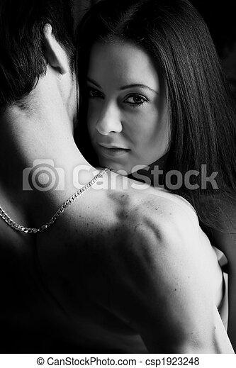 jeune, intime, amants - csp1923248