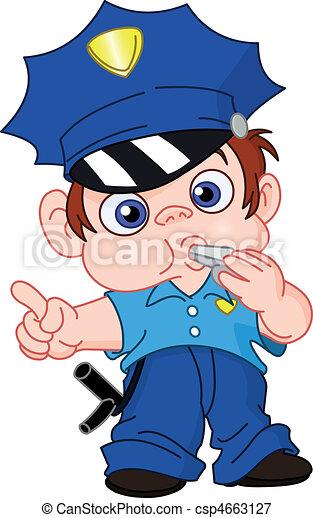 jeune, policier - csp4663127