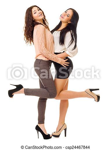 jeunes filles, isolé, deux - csp24467844