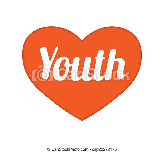 jeunesse, concept, symbole, graphisme - csp22272176