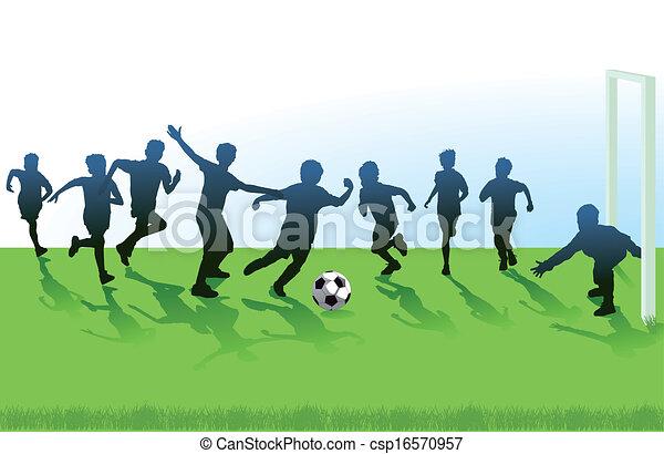 jeunesse, football - csp16570957