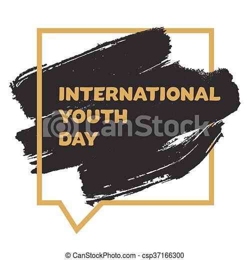 jeunesse, international, bannière, jour - csp37166300