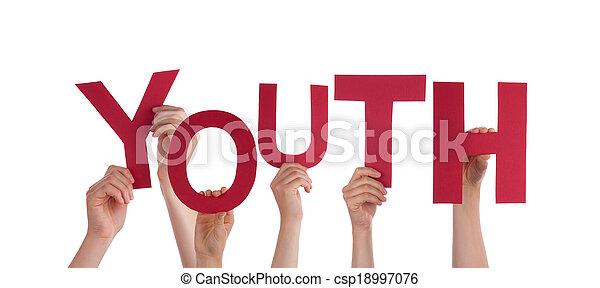 jeunesse, tenue, gens - csp18997076