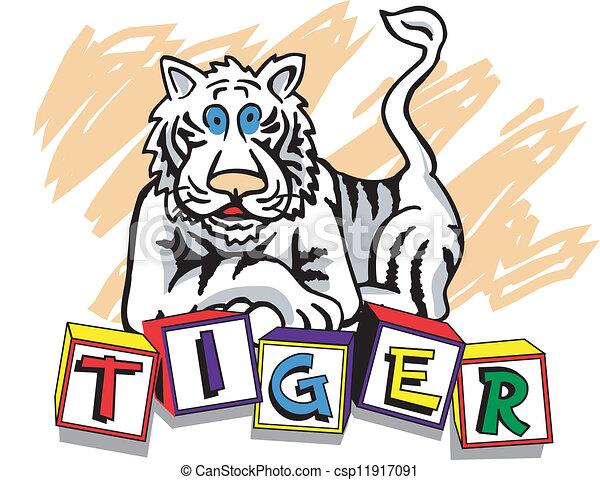 jeunesse, tigre - csp11917091