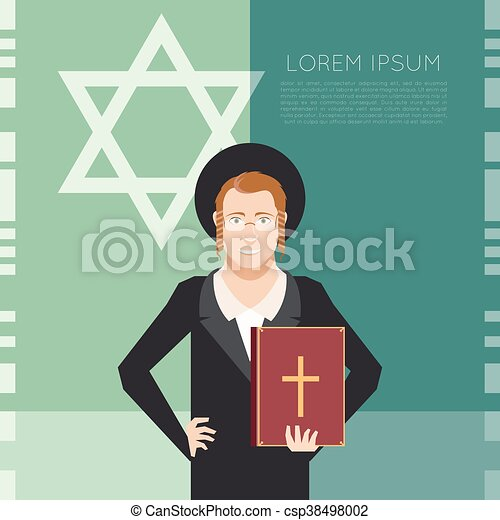 Jew and jewdaism banner - csp38498002