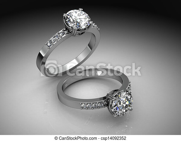 Jewelery ring on a white background. - csp14092352
