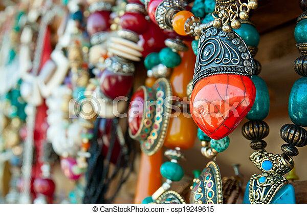 Jewelry at market - csp19249615