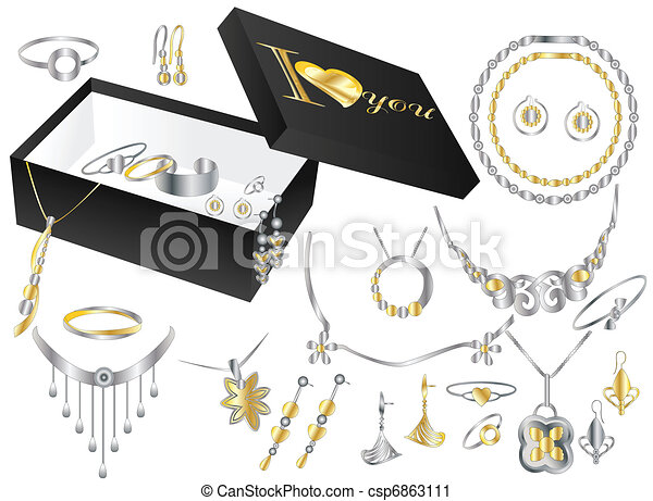 Jewelry box on white background vector clip art Search