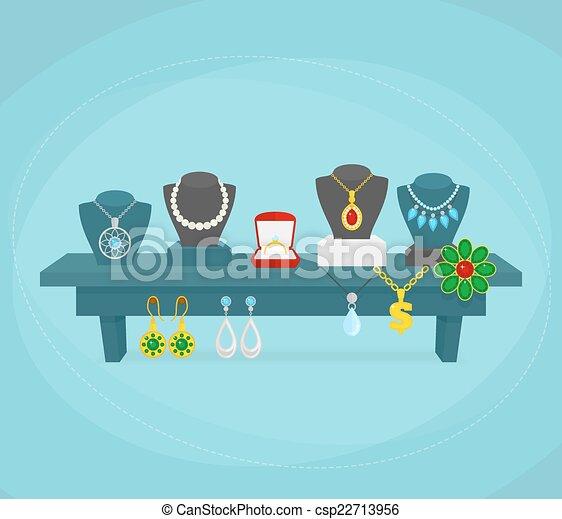 Jewelry display concept - csp22713956