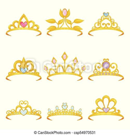 Jewelry Dourado Tiara Coloridos Apartamento Gemstones