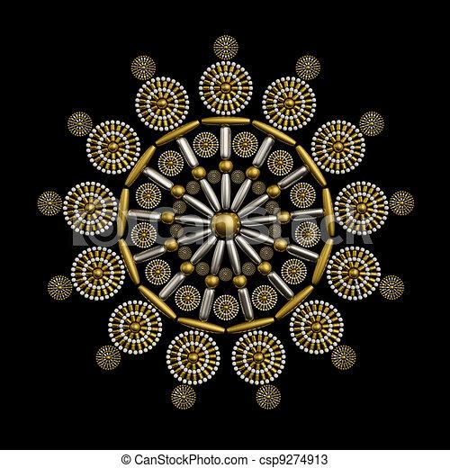 Jewelry ornament design - csp9274913