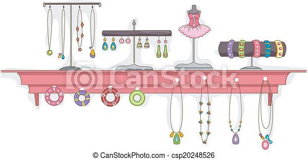 Jewelry Shelf Display - csp20248526