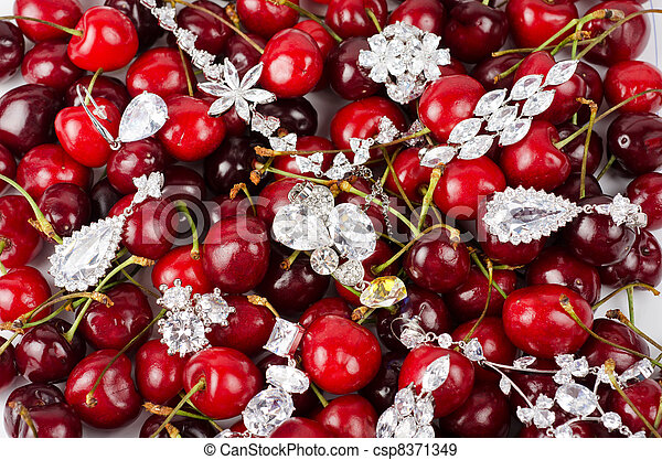 Jewels at cherries - csp8371349
