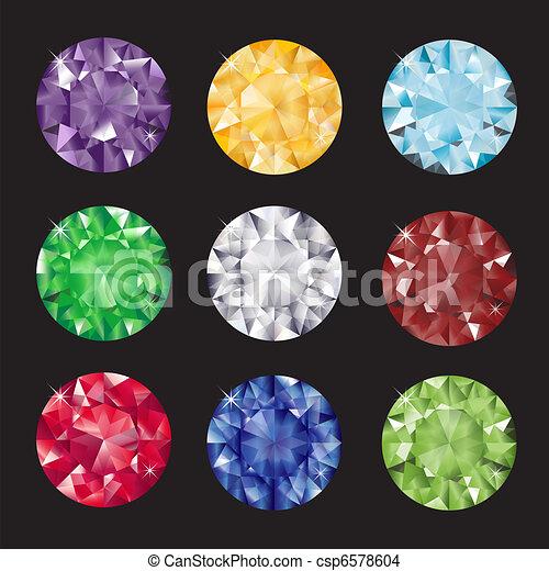 Jewels on black - csp6578604