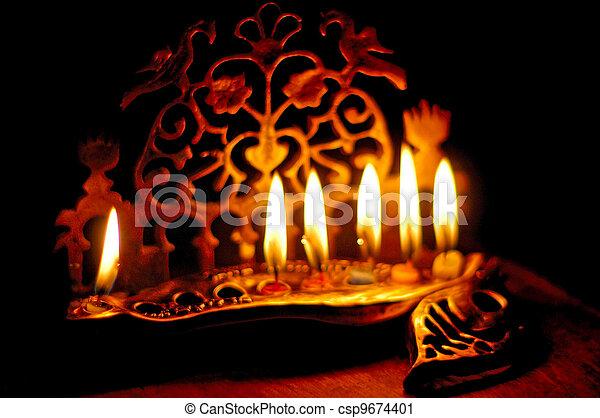 Jewish Holidays Hanukkah - csp9674401