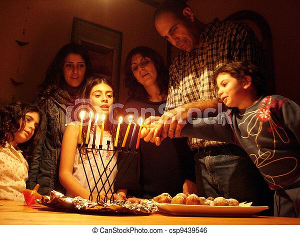 Jewish Holidays Hanukkah - csp9439546