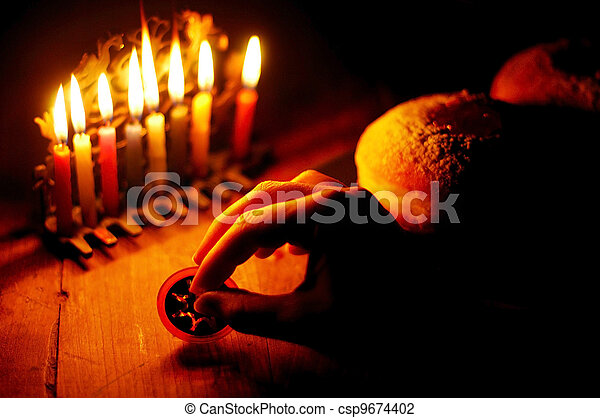 Jewish Holidays Hanukkah - csp9674402