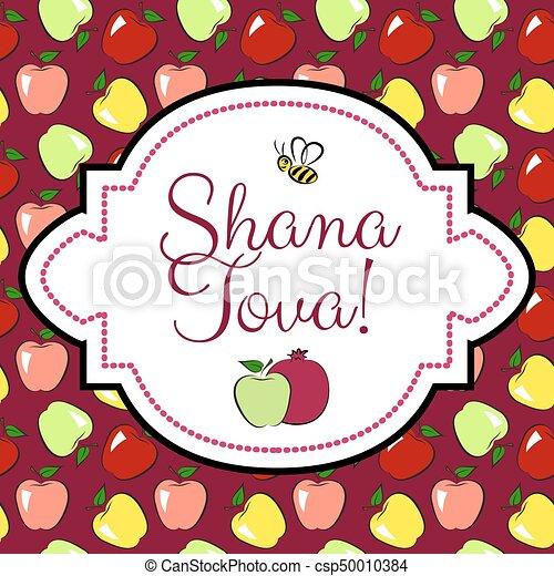Jewish new year card. Greeting card for jewish new year, rosh ...