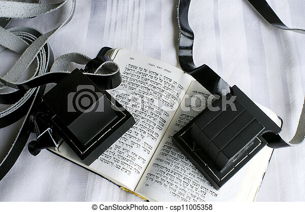 Jewish praying Items - csp11005358