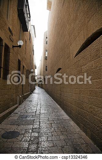 Jewish Quarter Alley - csp13324346
