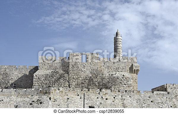 Jewish quarter of Jerusalem's Old city - csp12839055