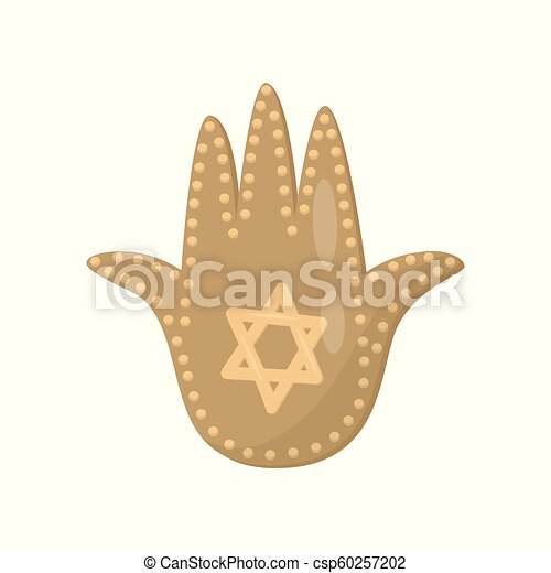 Jewish Sacred Amulet And Religious Symbol Palm Of David Vector