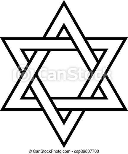 Jewish Star of David - csp39807700