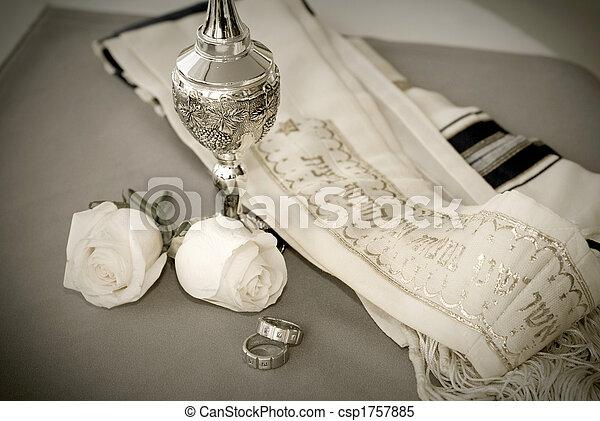 jewish wedding rings stock photo - Jewish Wedding Rings