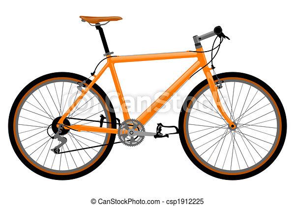jezdit na kole, illustration. - csp1912225