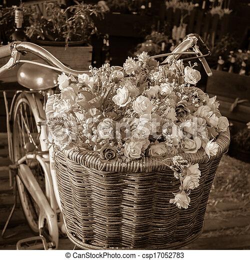 jezdit na kole, květ - csp17052783