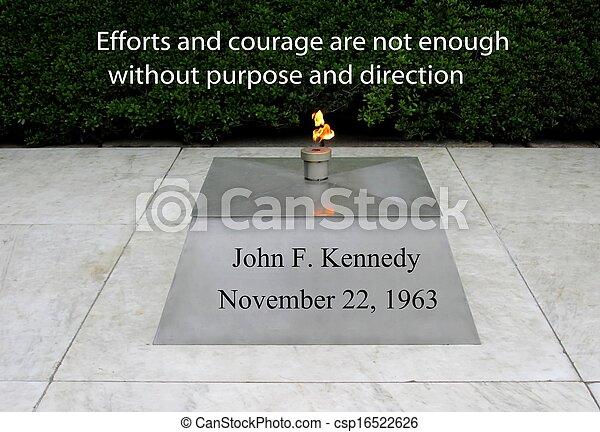 JFK Zitat über Mut - csp16522626
