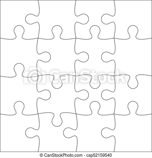 Jigsaw Puzzle Blank Template Or Cutting