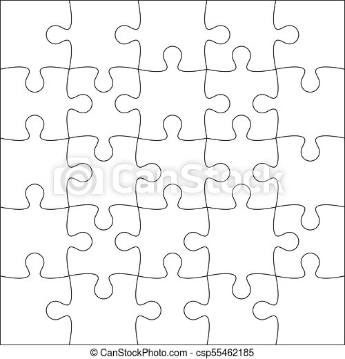 Jigsaw puzzle blank. Jigsaw puzzle blank template or cutting ...