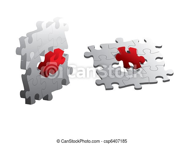 Jigsaw puzzle - csp6407185