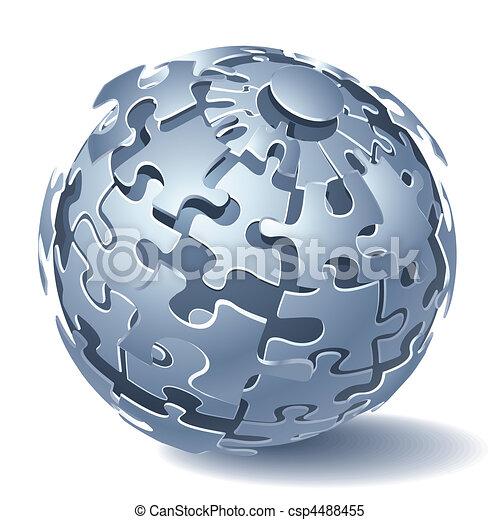 Jigsaw puzzle dynamic Explosion - csp4488455