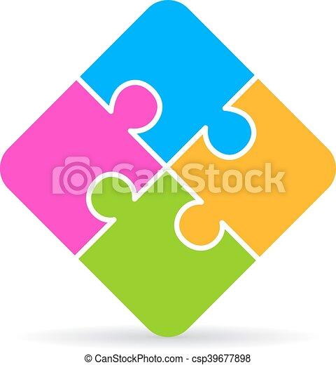 Jigsaw Puzzle Icon Isolated On White Background