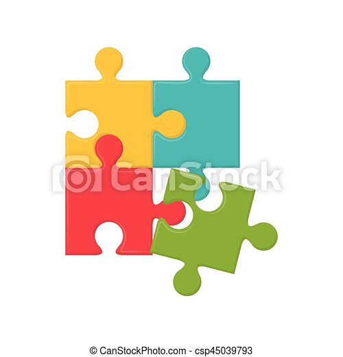 Jigsaw Puzzle Piece Icon Vector Illustration Graphic Design Eps