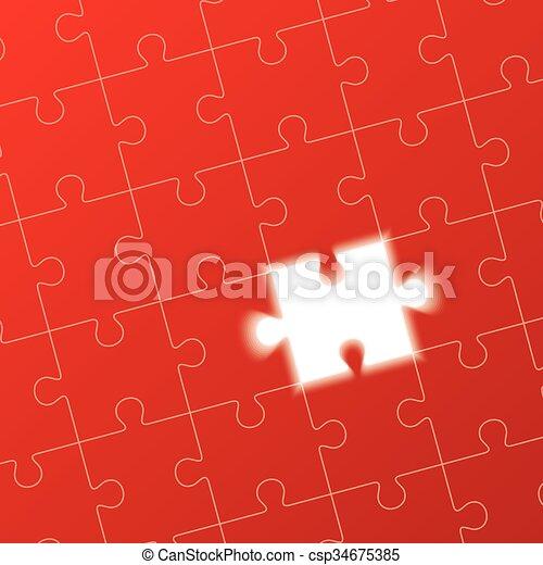 jigsaw puzzle, solution concept - csp34675385