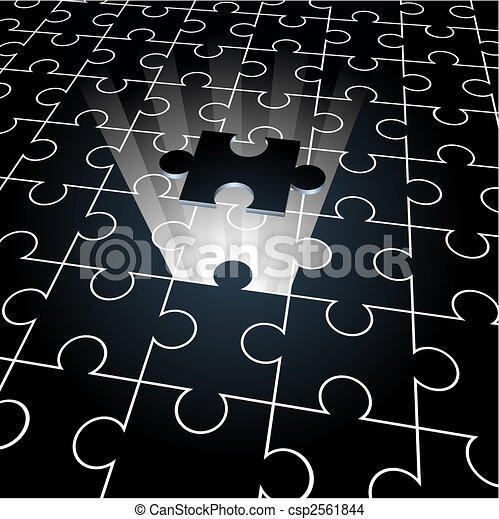 Jigsaw puzzle: the missing piece - csp2561844