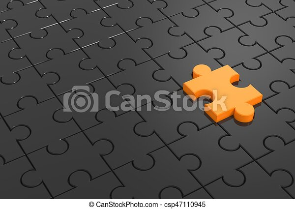 Jigsaw Puzzle With Missing Piece 3D Illustrating