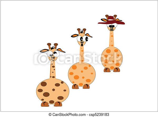 jirafa, caricaturas - csp5239183