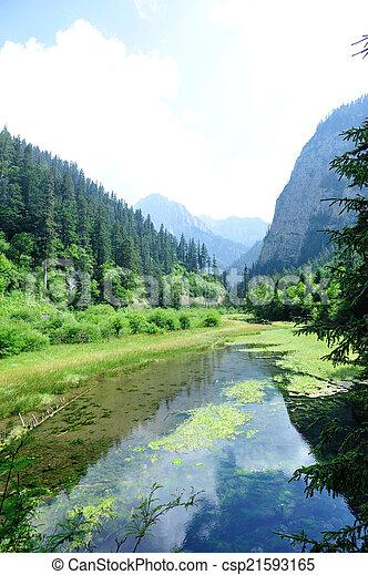 jiuzhaigou national park in china - csp21593165