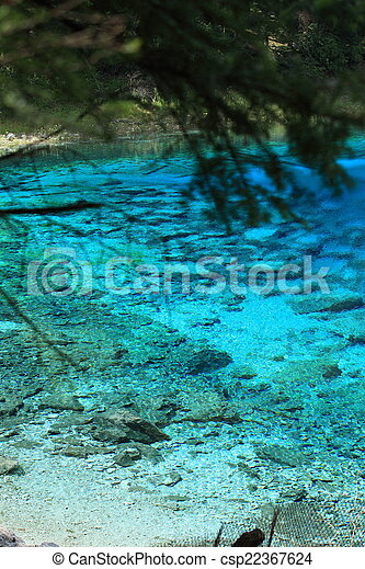jiuzhaigou national park in china  - csp22367624