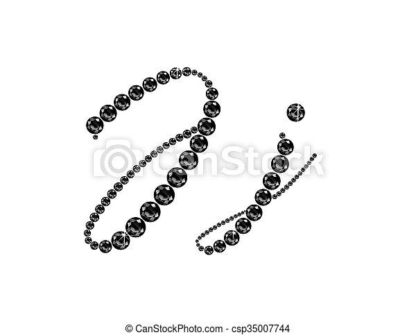 Jj Onyx Script Jeweled Font - csp35007744