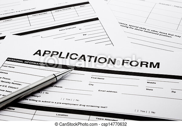 job application from