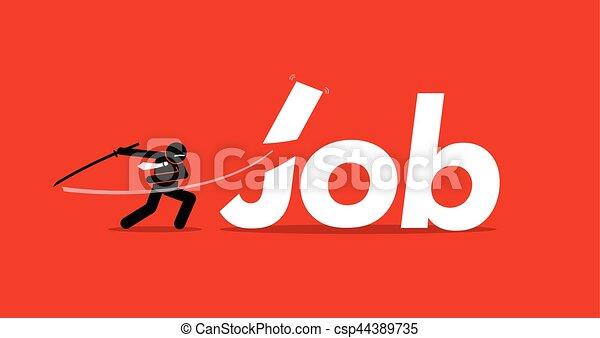 Job cut - csp44389735