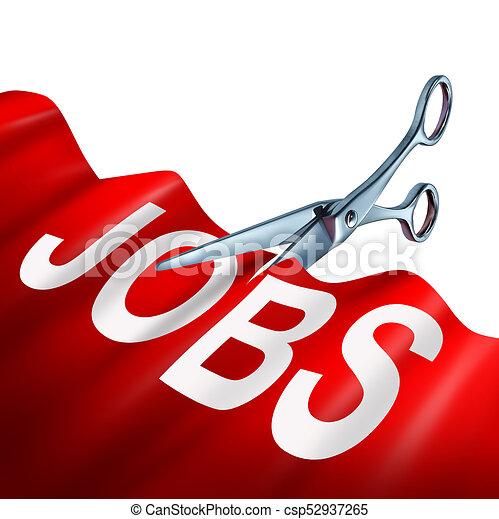 Job Cuts Business Concept - csp52937265