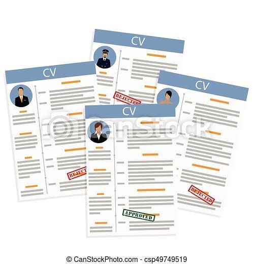 Job Interview Concept Vector Illustration Job Competition